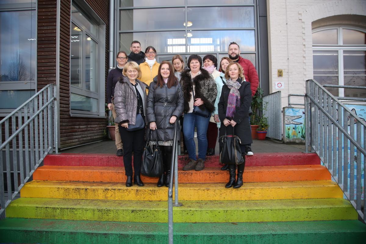 Moskau Lehrer besuchen Düsseldorf